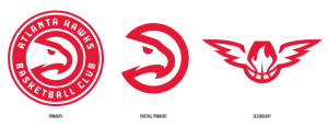 The new Atlanta Hawks logo set (Photo Credit: http://content.sportslogos.net/news/2015/06/Atlanta-Hawks-New-Logo-31.png)